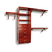 "John Louis Home 16"" Deep Closet Organizer, 5-Drawer, Red Mahogany"