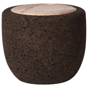 Magma Marble and Cork Coffee Table, Tall