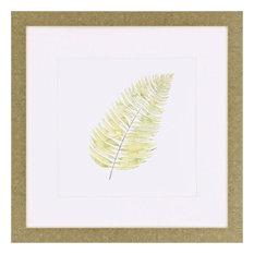 "Watercolor Leaf Study IV Artwork, 30""x30"""
