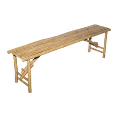 Long Bamboo Folding Bench