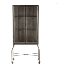 "The Iron City 32"" Wide Metal Cabinet"