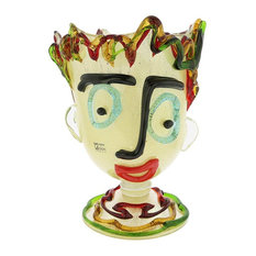 Murano Glass Picasso Head Vase, Tall