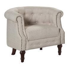 Argenziano Chesterfield Chair Beige