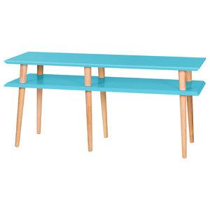 Mugo Small Scandinavian TV Stand, Dark Turquoise