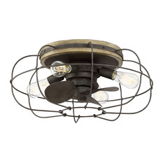 Junction 6-Light Ceiling Fan, Charred Iron, Charred Iron Finish