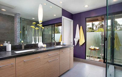 Contemporary Master Bath Brings the Caribbean to California