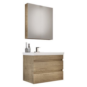"DP Wall Bath Vanity Cabinet Set 28"" Single Sink With Laminated PL Wood Finish"