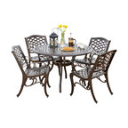 Covington Sarasota Traditional Outdoor 4-Seater Cast Aluminum Dining Set