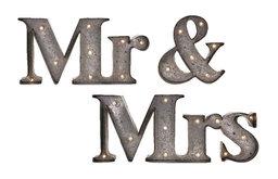 Mr. & Mrs. Lighted Sign, 3-Piece Set