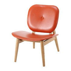 Contemporary Orange Armchairs And Accent Chairs Houzz