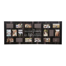 "21 Opening ""Family"" Black Collage Picture Frame"