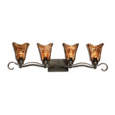 Uttermost Vetraio 4-Light Bronze Glass Bathroom Vanity Lights
