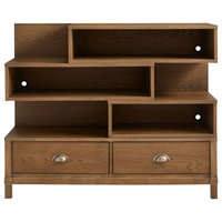 Stone & Leigh Driftwood Park Low Bookcase in Sunflower Seed 536-13-14
