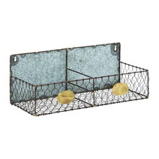 ... - Metal Wire Wall Rack With 2 Sections - Display And Wall Shelves