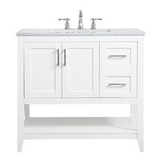 Elegant Decor VF16036WH 36 Inch Single Bathroom Vanity In White