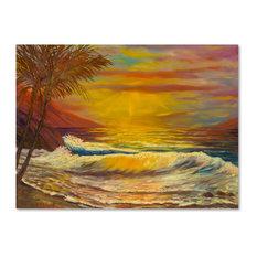 'A Tropical Lagoon' Canvas Art, 24x18