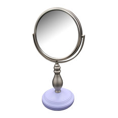 Lavender Purple Base and Chi Chi Pedestal Bathroom Makeup Mirror