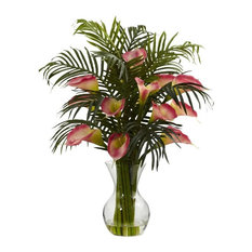 Calla Lily & Palm Combo, Pink