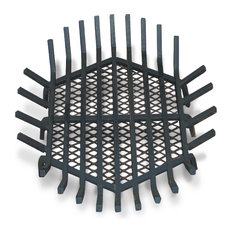 """Round Fire Pit Grate, Welded Steel, 24"""", With Char-Guard"""