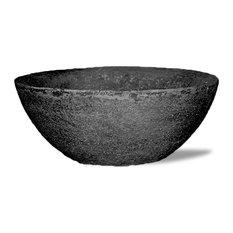 Lava Bowl, Black, Without Drainage Hole