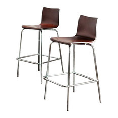 Southern Enterprises   Holly Bar Stools, Set Of 2, Espresso   Bar Stools And