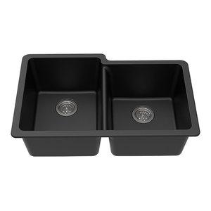 Quarza 33 Drop In Undermount Granite Composite 60 40 Kitchen Sink Contemporary Kitchen Sinks By Kraus Usa Inc