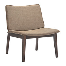 America Luxury   Modern Urban Contemporary Lounge Chair, Brown Wood Fabric    Armchairs And Accent