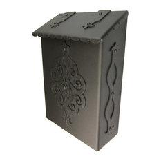 Spanish Revival Wrought Iron Mailbox, Bronze