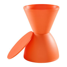 Haste Storage Accent Stool, Orange
