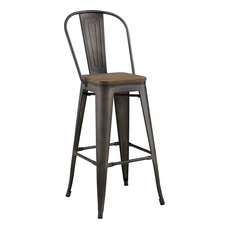 Galton Metal Bar Stool Brown