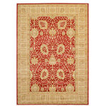 Unique Loom - Unique Loom Edinburgh Adel Area Rug, Red, 7'x10' - The classic look of the Edinburgh Collection is sure to lend a dignified atmosphere to your home. With an array of colors and patterns to choose from, there�s a rug to suit almost any taste in this collection. This Edinburgh rug will tie your home�s decor together with class and amazing style.