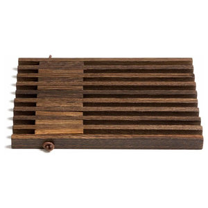 Expandable Wooden Trivet, Smoky