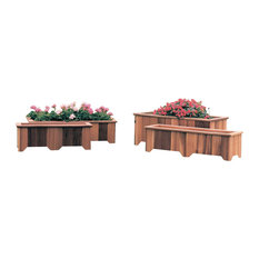 T&L Rectangular Planter Boxes, Unstained