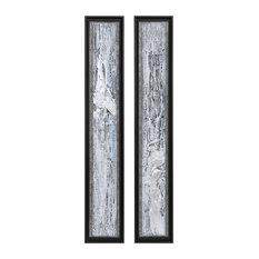 Uttermost Silver Lining Textured Abstract Art, 2-Piece Set