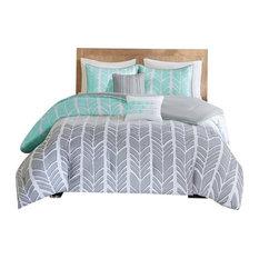 Intelligent Design Microfiber Printed Comforter Set, Full/Queen