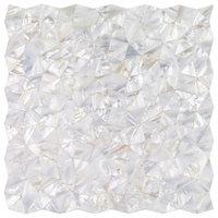 Lokahi Random Sized Glass Pearl Shell Mosaic Tile, Polished White/Pearl