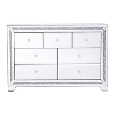 Marina Clear Crystal Mirrored 7-Drawer Cabinet
