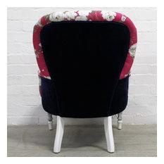 Pink, Blue & White Boudoir / Nursing Chair