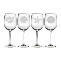 Beachcomber 4-Piece Wine Glass Set
