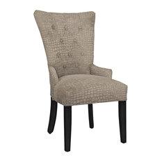 Modern Hekman Woodmark Sandra Dining Chair With Dark Nickel Nailhead Trim