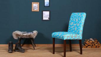Fleur des Chalet-Collection. Blue Wall Design