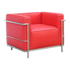 Fine Mod Imports Grand Lc3 Chair Red Armchairs And Accent