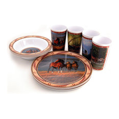 MotorHead - Horse 12-Piece Dish Set - Dinnerware Sets  sc 1 st  Houzz & 50 Most Popular Southwestern Dinnerware Sets for 2018 | Houzz