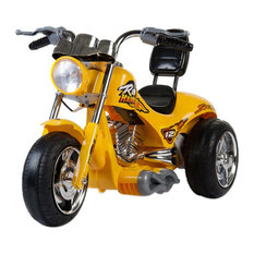 Mini Motos Kids Play Vehicles Red Hawk Motorcycle 12V Yellow