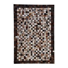 Framed Sao Paulo Cowhide Rug, Brown, 170x240 cm