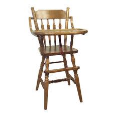 Amish LIFT Tray Child Arrow Back High Chair Oak Solid Hardwood Handmade, Fruitwo