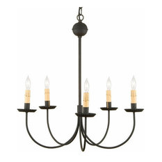 Wrought Iron Colonial Chandelier