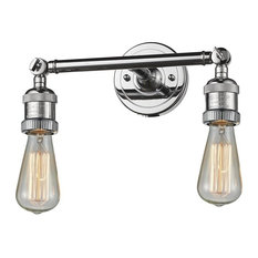 Innovations Bare Bulb 2-Light Dimmable LED Bathroom Fixture, Polished Chrome