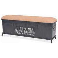 "vidaXL Storage Bench w/ Cushion 40.6"" Organizer Entryway Collection Box Home"