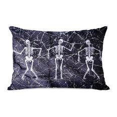 """""""Dancing Skeletons"""" Indoor Throw Pillow by OneBellaCasa, 14""""x20"""""""